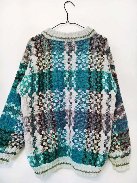 Vintage Heavy-knit Authentic Wool Textured Pullove