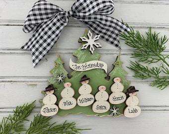 Grandkids Ornament, 3, 4, 5, 6, 7 Grandchildren Ornament, Large Family Ornament, Personalized Grandparent Gift, Christmas 2021, Grandma Gift