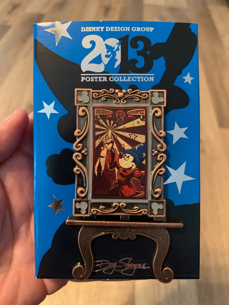 Pin 96824 2013 Poster Series Sorcerer Mickey July