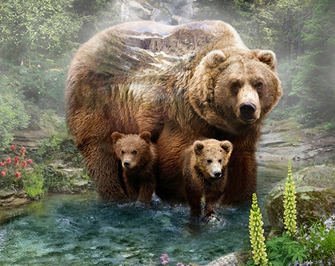 Grizzly Bear Digital Panel 43in x 33in