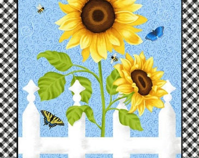 Henry Glass, Sunny Sunflower Large panel