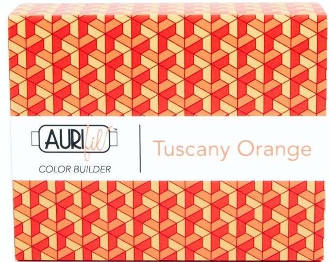 AURIFIL Thread Three Spools Tuscany Orange
