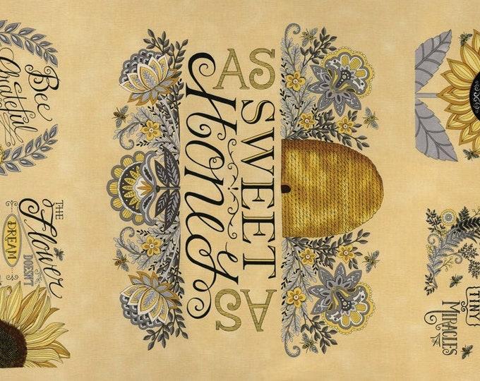 Bee Grateful,  Honey Panel 22 X 42