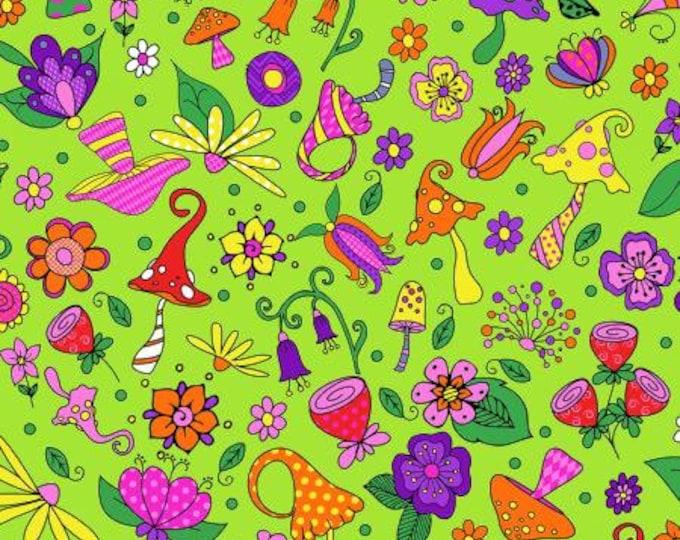 Garden Gnomes, Forest Floor, Lime Green
