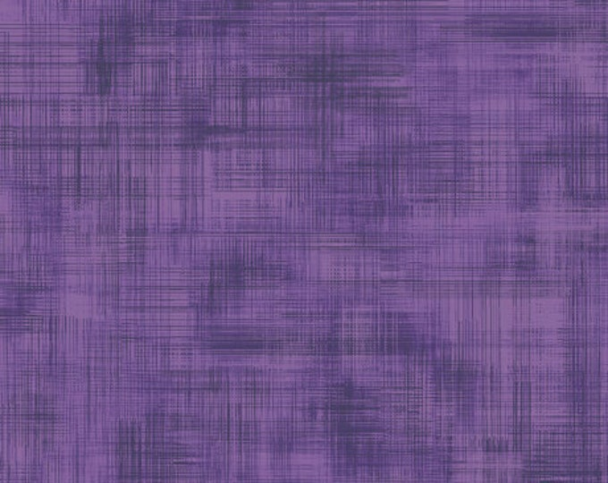 SIMONE, Solid Purple Linen looking,