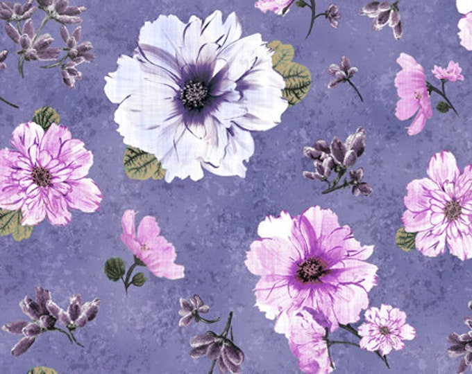 SIMONE, Purple Background with Lavender Flowers