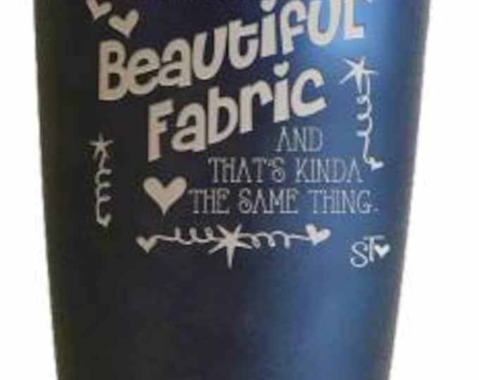 BLACK, Beautiful Fabric Tumbler