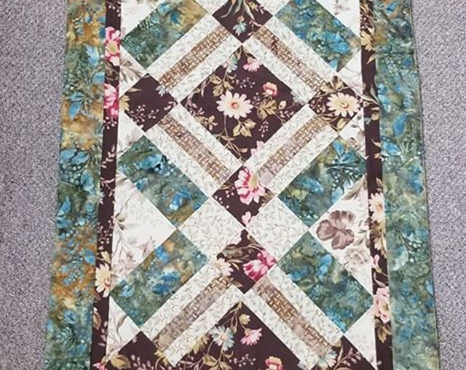 Large Floral Table Runner