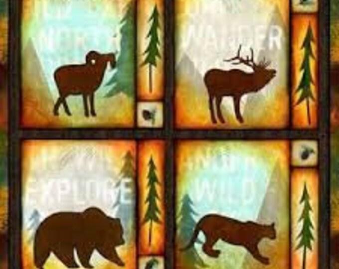 Pillow Panel, Wildlife Midwest Textiles