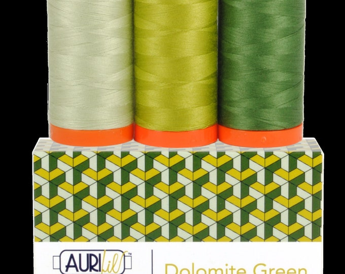 AURIFIL Thread Three Spools DOLOMITE GREEN