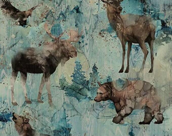 Whispering Pines Northcott All Over Animal Print Dark Color