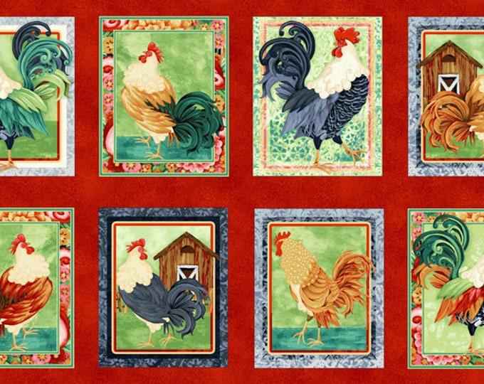 """Henry Glass, chicken panel 24"""" x 42"""""""