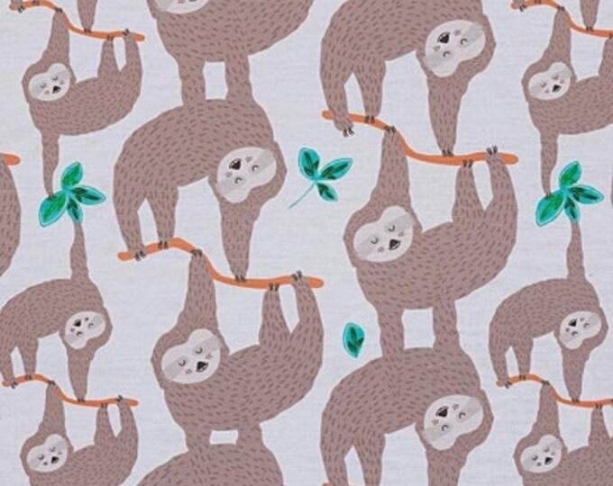 Sloths White , by Alexander Henry Fabrics