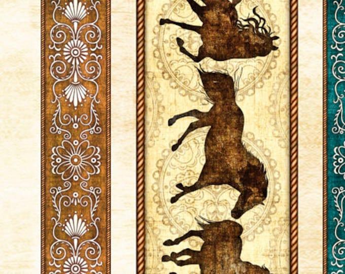 UNBRIDLED BROWN Border Print