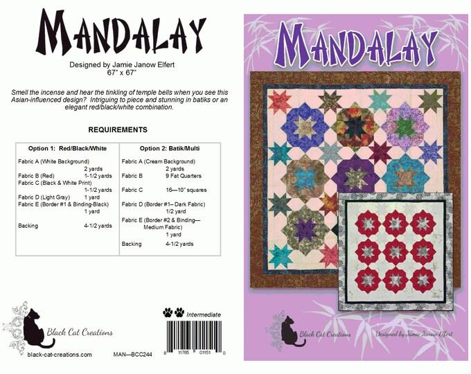 "KIT, MANDALAY Option 2 - 5 fabric kit 67"" x 67"""
