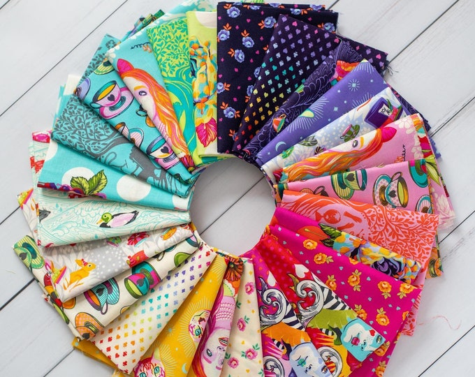 Curiouser and Curiouser 25 Fat Quarters by Tula Pink  - PRE ORDER