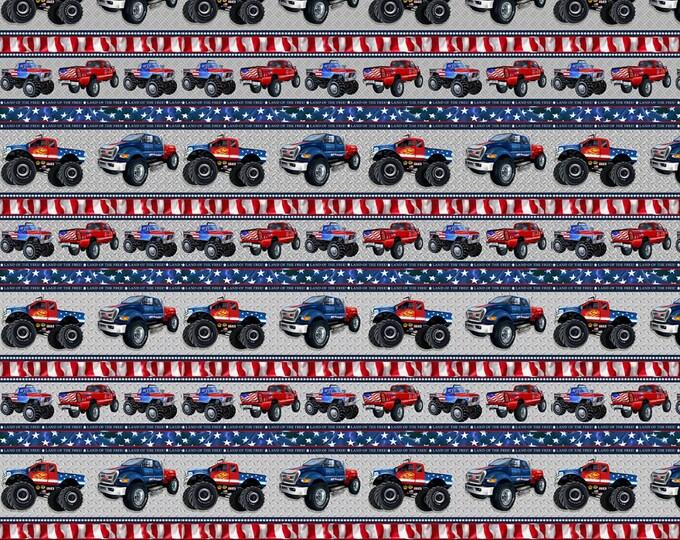 AMERICAN TRUCKERS, Henry Glass Fabrics Border Print