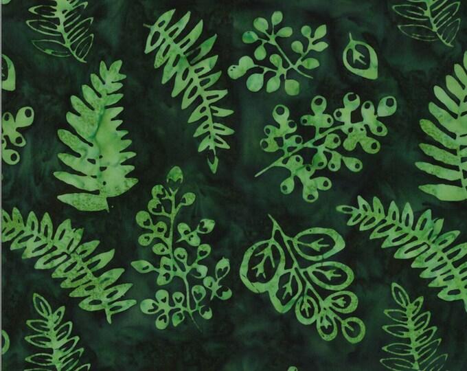 MODA, Leaves Evergreen Malibu Batiks