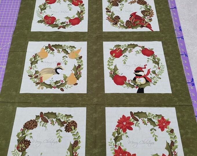 """Moda, Panel Natures Christmas  24"""" x 36"""" Panel"""