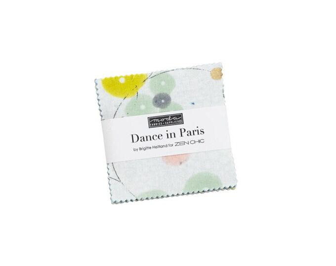Moda, Mini Charm Pack Dance In Paris Metallic