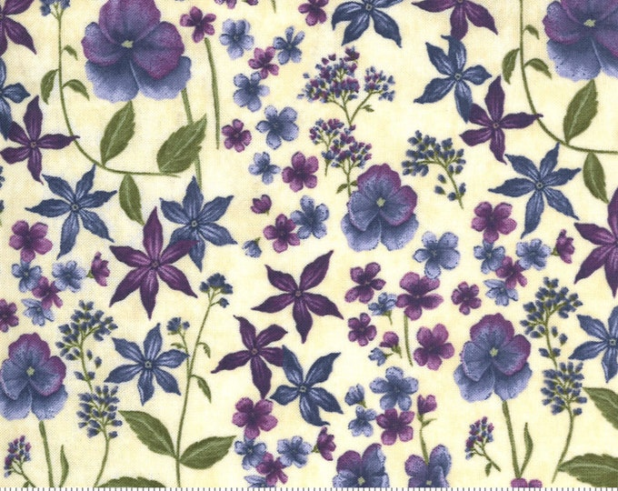 MODA, VIOLET HILL Eggshell (3) Three Flowers  by Holly Taylor