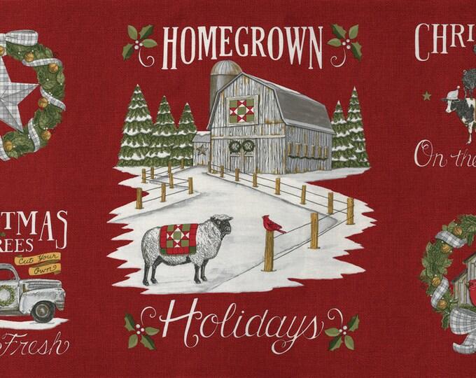 "Homegrown Holidays, Panel aprox 24"" x 45"""