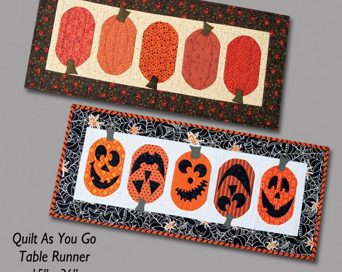Kit, The Pumpkin Patch Table Runner Jack O'Lantern, includes pattern.