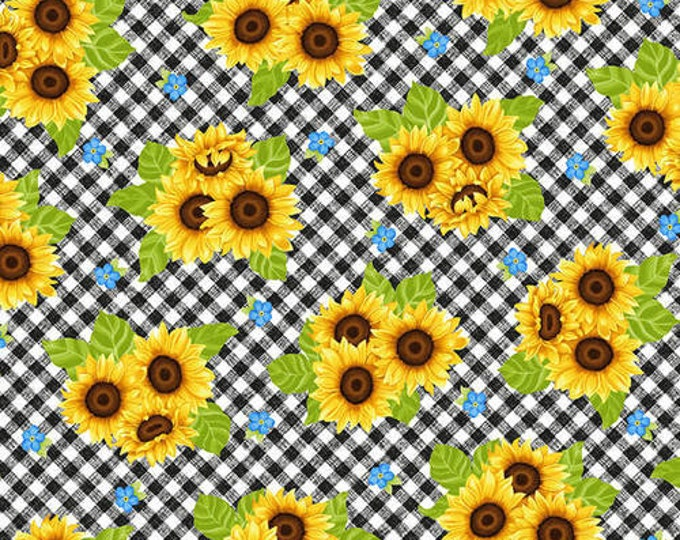 HG, Black Check Sunflower, Sunny Sunflowers