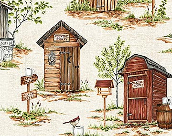 NORTHCOTT, Natures Calling Outhouses Allover print