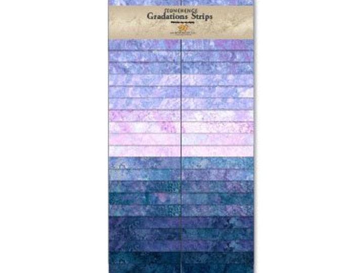 "Northcott - Stonehenge Gradations - Twilight - 2-1/2"" Strip Pack - 40 pcs/pack - SSTONE40-66"