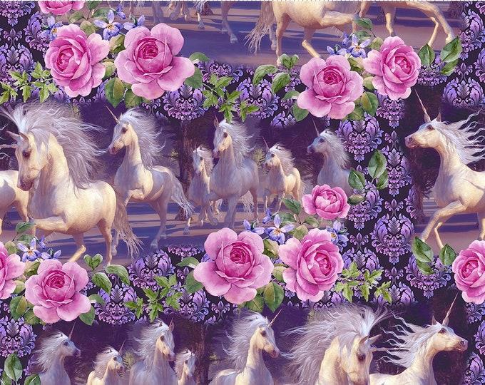 JASON YENTER, Unicorns with roses, purple
