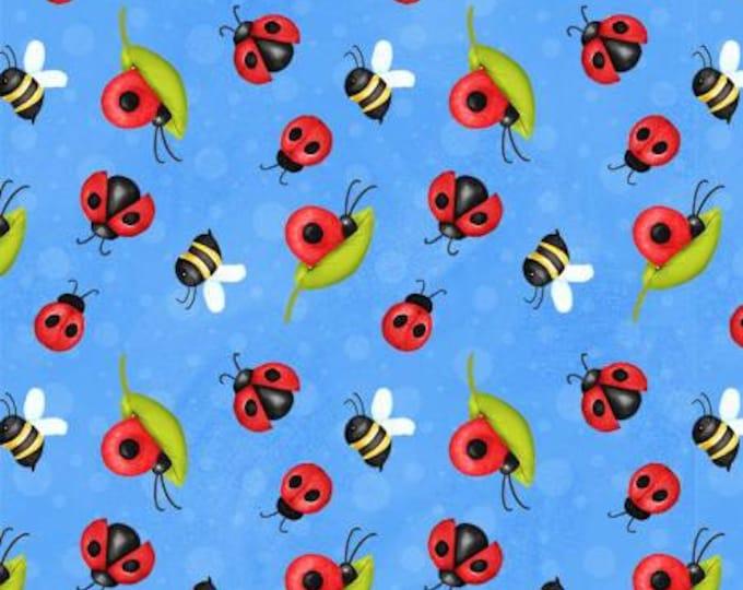 HG, Gnome Blue Lady Bug & Bee Print