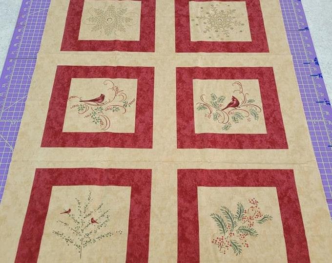 "Moda, Grain Christmas Spirit  24"" x 36"" Panel Flannel"