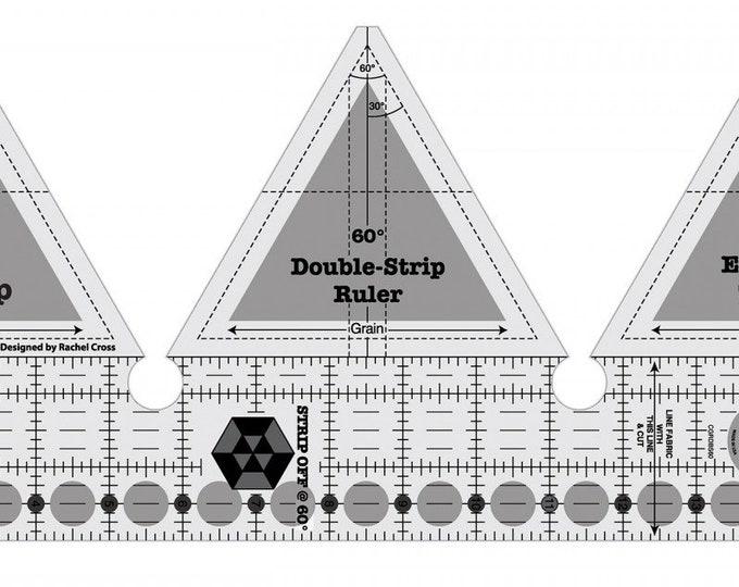 Ruler, 60 Degree Double-Strip Ruler