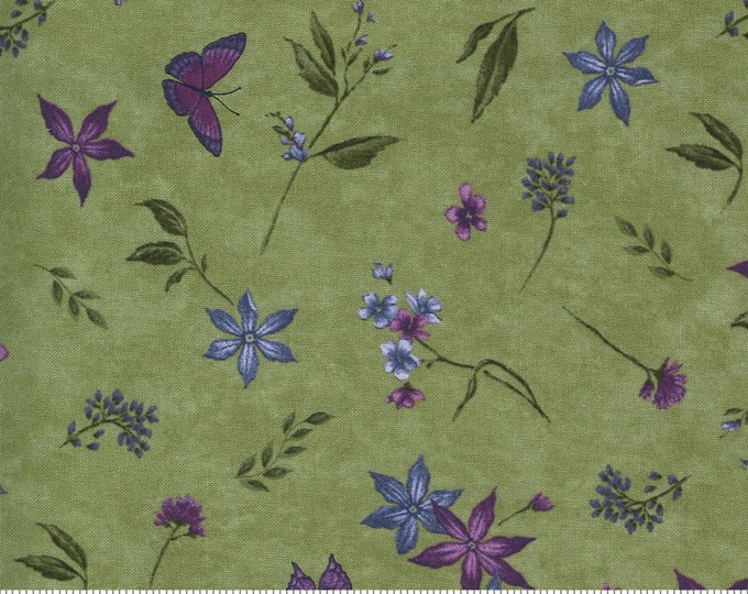 MODA, VIOLET HILL Celery butterfly's and flowers by Holly Taylor