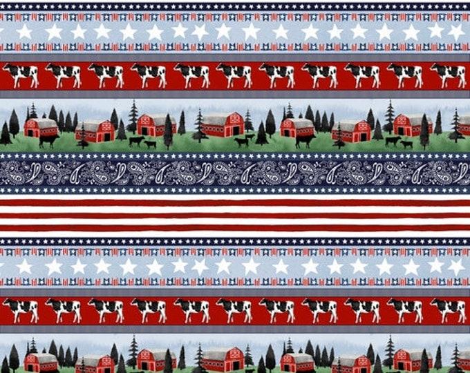 Studio E Fabrics, Heritage USA Border Print