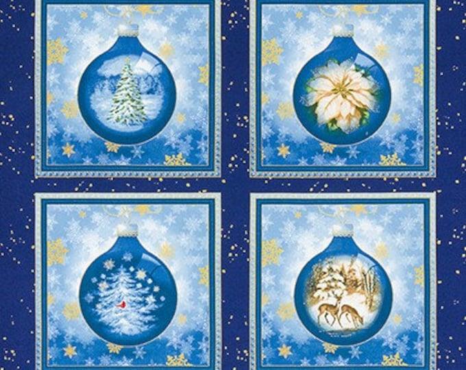 "Robert Kaufman, Winter's Grandeur 8 Christmas Ball Panel 24"" x 42"""