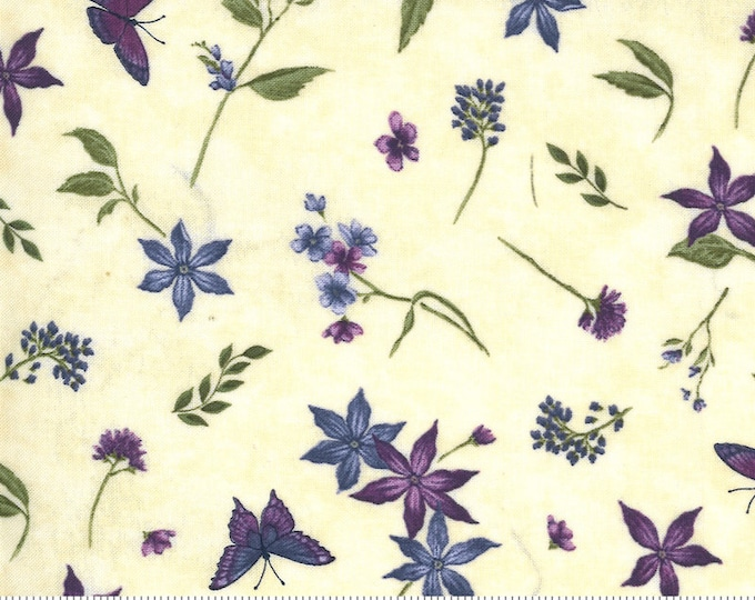 MODA, VIOLET HILL Eggshell Butterfly's and Flowers  by Holly Taylor