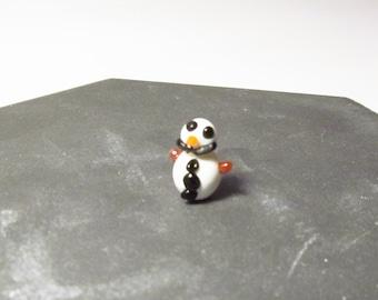 Snowman terp pearls, dab banger bead, mini glass sculpture, Winter, Christmas, Holiday, Hanukkah, borosilicate glass,