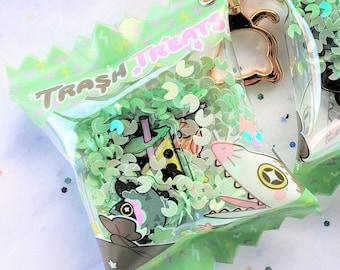 Trash Treats Shaker Bag Charm