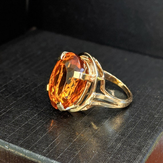 Large 14K Citrine Cocktail Ring