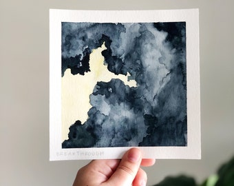 SEASONS collection: Breakthrough   watercolor painting