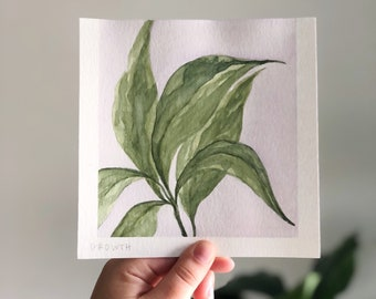 SEASONS collection: Growth   watercolor painting