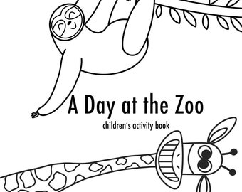 A Day at the Zoo children's activity book   digital download