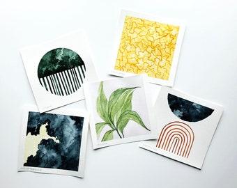 SEASONS collection set   watercolor set   watercolor decor