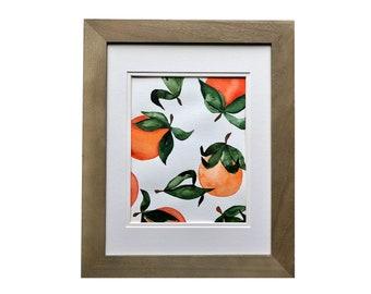 Oranges   watercolor original artwork