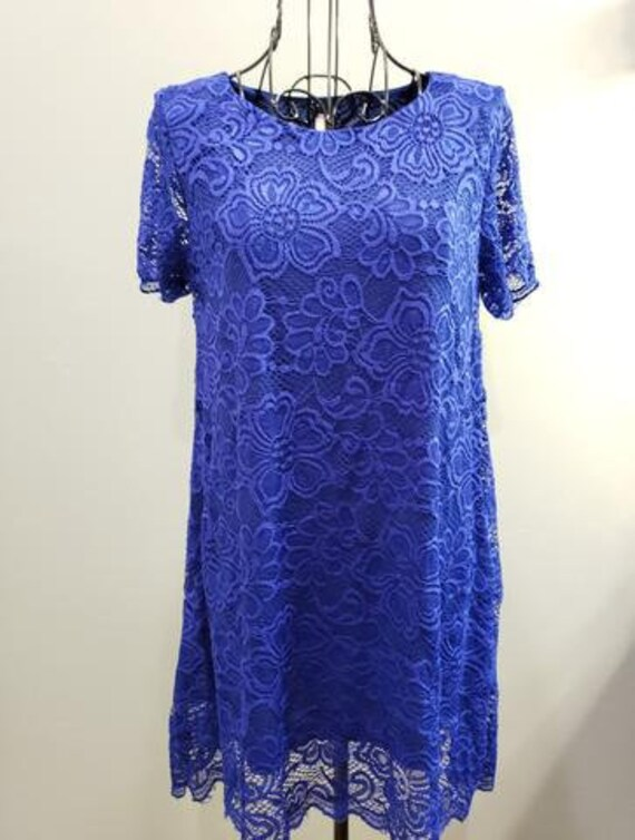 Royal Lace Tunic Top