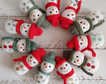 Knitted snowman. Christmas newborn photo props