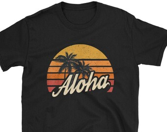 9f12017e1 Aloha Hawaii Hawaiian Island T shirt Vintage 1980s Coconut / I Love island  T-Shirt