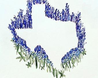 State Flower Outline Prints